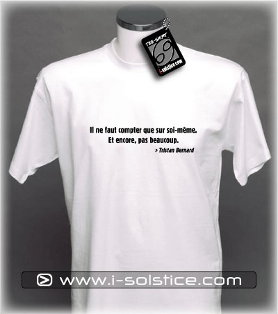 Tee-Shirt citation Tristan Bernard