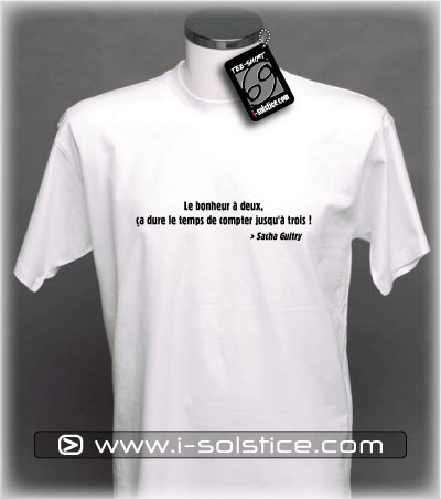 Tee-Shirt citation Sacha Guitry 6